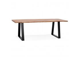 Table de salle à manger style industriel 'RAFA' en bois massif et métal - 240x100 cm