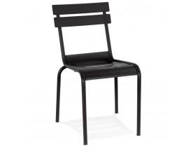 Chaise design 'ROMEO' en métal noir empilable