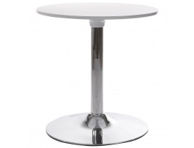Table d'appoint 'SATURN' blanche design pour coin bar lounge
