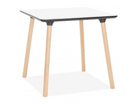 Petite table carrée 'SEVEN' blanche