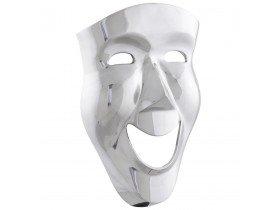 Masque mural design 'SMILE' en aluminium