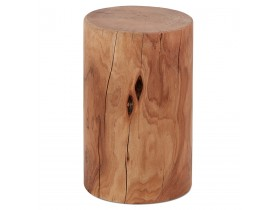 Table d'appoint / Tabouret tronc d'arbre 'STOLY' en bois massif finition naturelle