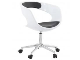 Chaise de bureau 'STRATO' blanche et noire sur roulettes