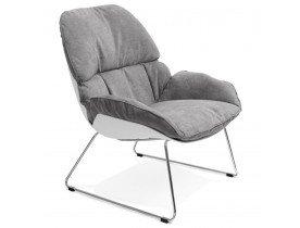 Fauteuil lounge design 'STARTUP' gris clair en tissu