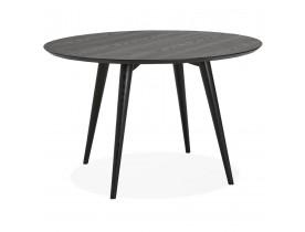 Table à dîner ronde 'SWEDY' en bois noir - Ø 120 cm