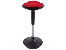 Tabouret ergonomique 'SWING' rouge avec système de balancement