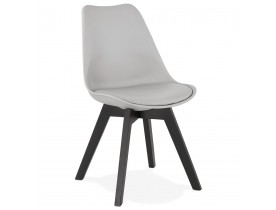 Chaise design 'TAPAS' grise
