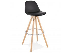Tabouret de bar design TATAMI noir - Alterego