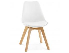 Chaise moderne 'TEKI' blanche
