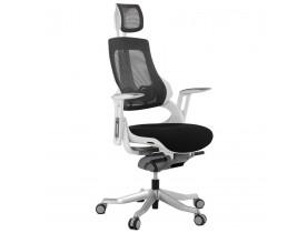 Fauteuil de bureau ergonomique TEKNIK en tissu noir - Alterego