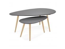 Tables gigognes design TETRYS grises foncees - Alterego