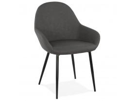 Chaise avec accoudoirs 'THELMA' grise design