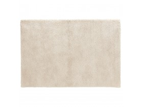 Tapis de salon shaggy 'TISSO' beige - 240x330 cm