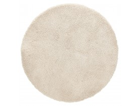 Tapis rond design 'TISSO' beige - Ø 160 cm