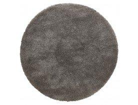 Tapis rond design 'TISSO' gris foncé - Ø 160 cm