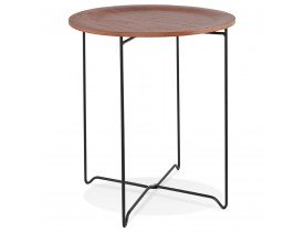 Table d'appoint design 'TSUNAMI' noire style industriel - Alterego