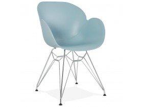 Chaise moderne 'UNAMI' bleue en matière plastique