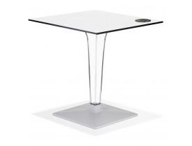 Table de terrasse carrée 'VOCLUZ' blanche intérieur/extérieur - 68x68 cm