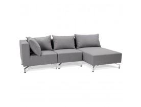 Canapé d'angle modulable 'VOLTAIRE L SHAPE' gris (angle au choix)