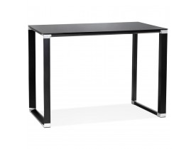 Table haute / bureau haut 'XLINE HIGH TABLE' en verre noir - 140x70 cm