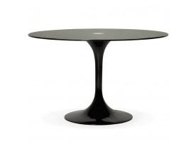Table à dîner design ronde 'ALEXIA' noire - Ø 120 cm