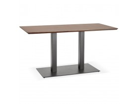 Table / bureau design 'ZUMBA' en bois finition Noyer - 150x70 cm