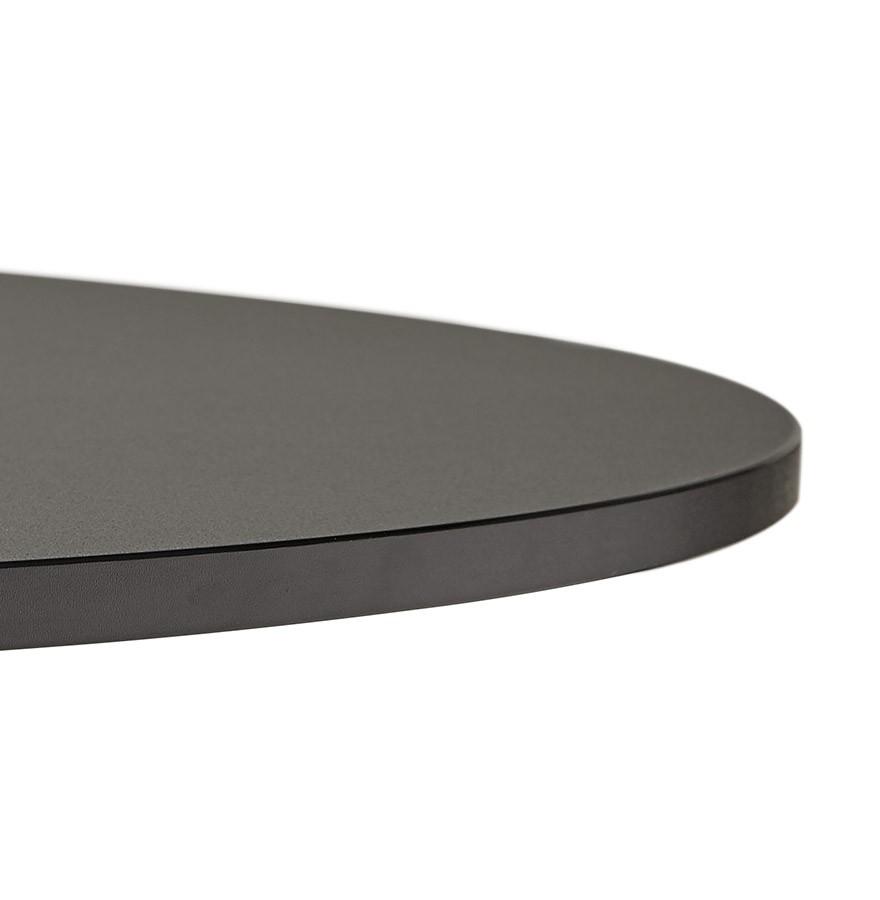 Table de bureau ronde noire atlanta 90 cm table diner Bureau 90 cm de long
