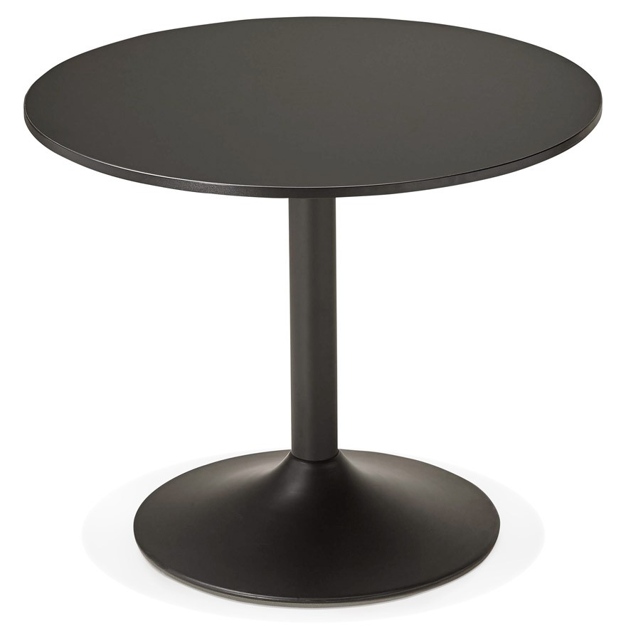 table de bureau ronde noire atlanta 90 cm table diner. Black Bedroom Furniture Sets. Home Design Ideas