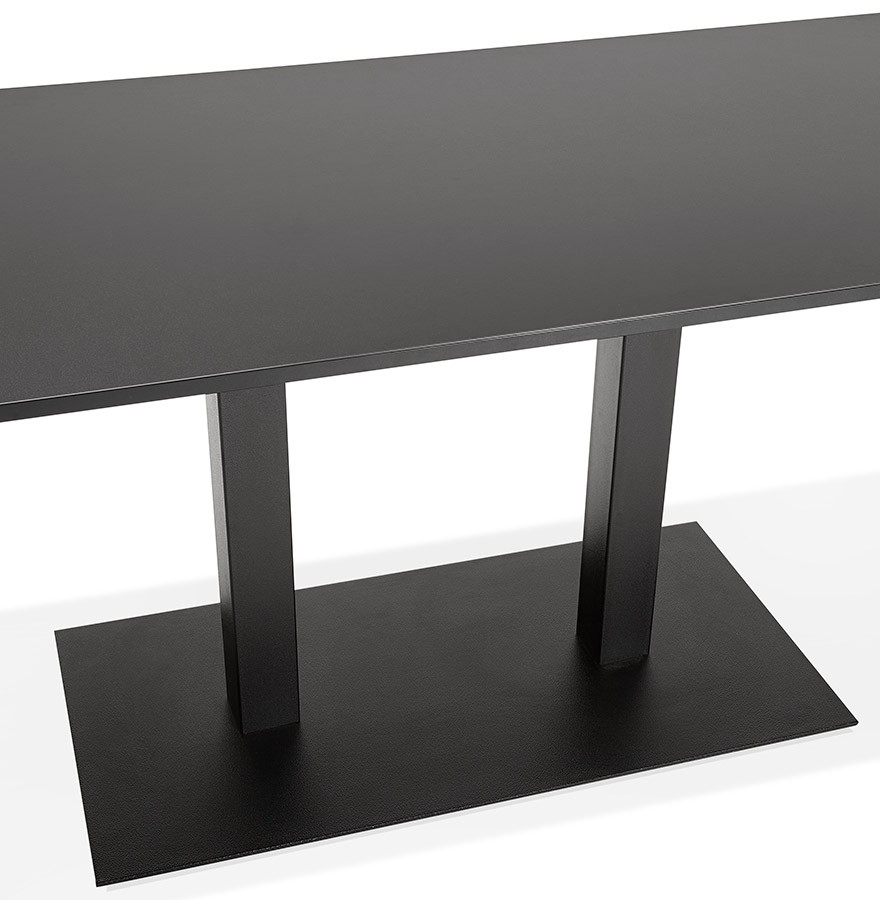 table de r union austin noir 160x80 cm bureau design. Black Bedroom Furniture Sets. Home Design Ideas