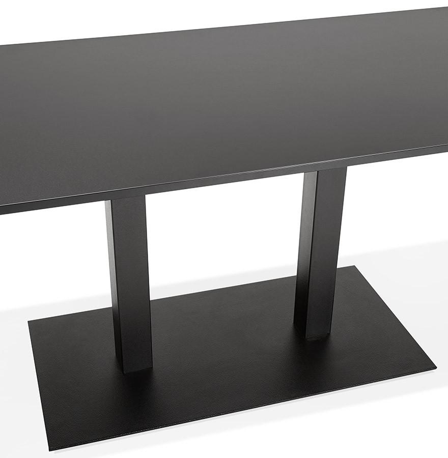table de r union austin noir 160x80 cm bureau design. Black Bedroom Furniture Sets. Home Design Ideas