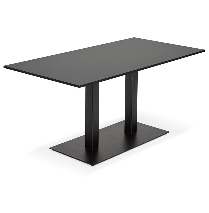 Table de r union austin noir 160x80 cm bureau design for Table bureau design