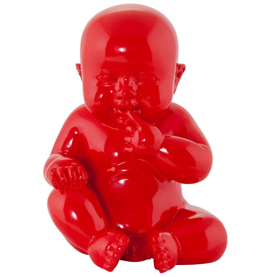 Statue d co design baby rouge objet d co design alterego - Objet deco design rouge ...