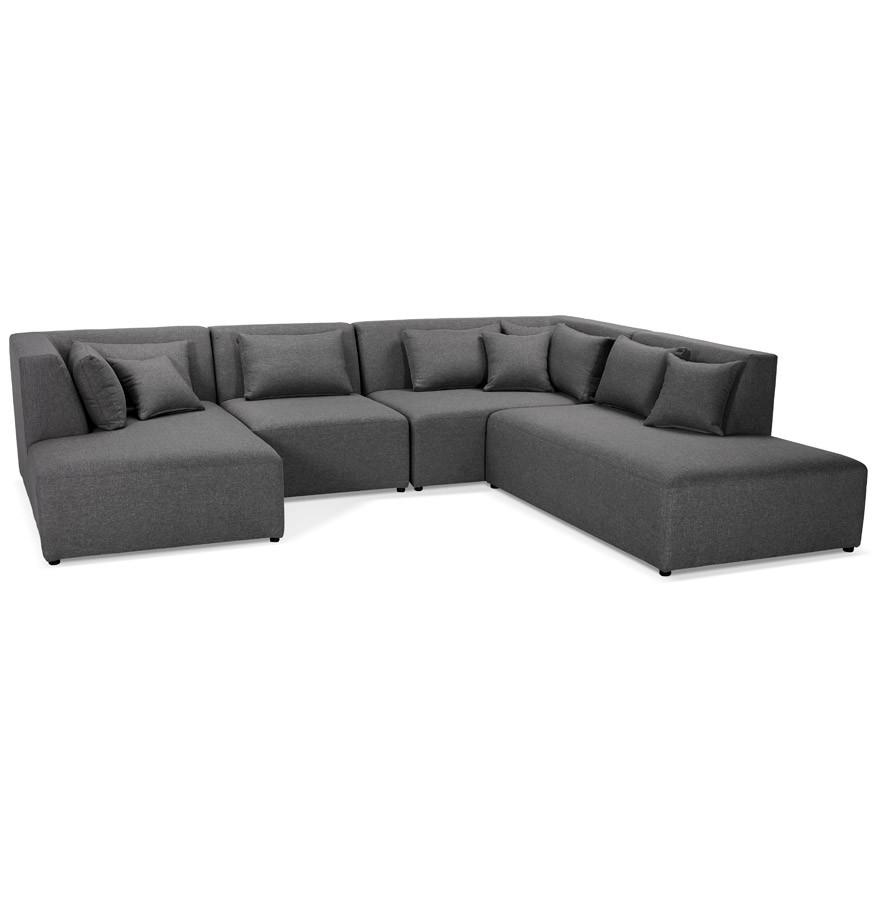 canap modulable belagio en u gris fonc m ridienne droite. Black Bedroom Furniture Sets. Home Design Ideas