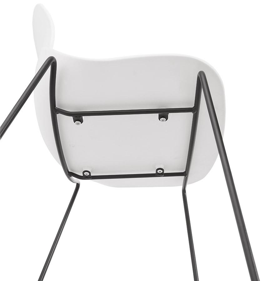 tabouret de bar berlin blanc tabouret design style industriel. Black Bedroom Furniture Sets. Home Design Ideas