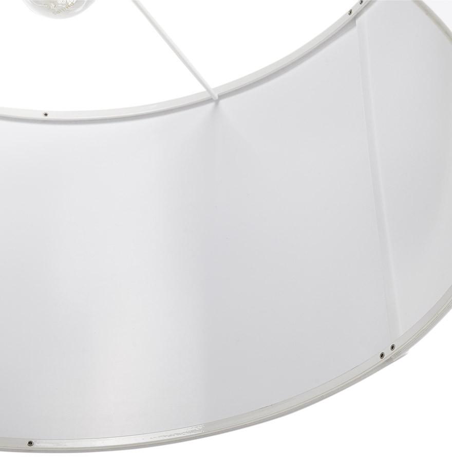 Suspension BUNGEE ronde en tissu blanc - Lustre design
