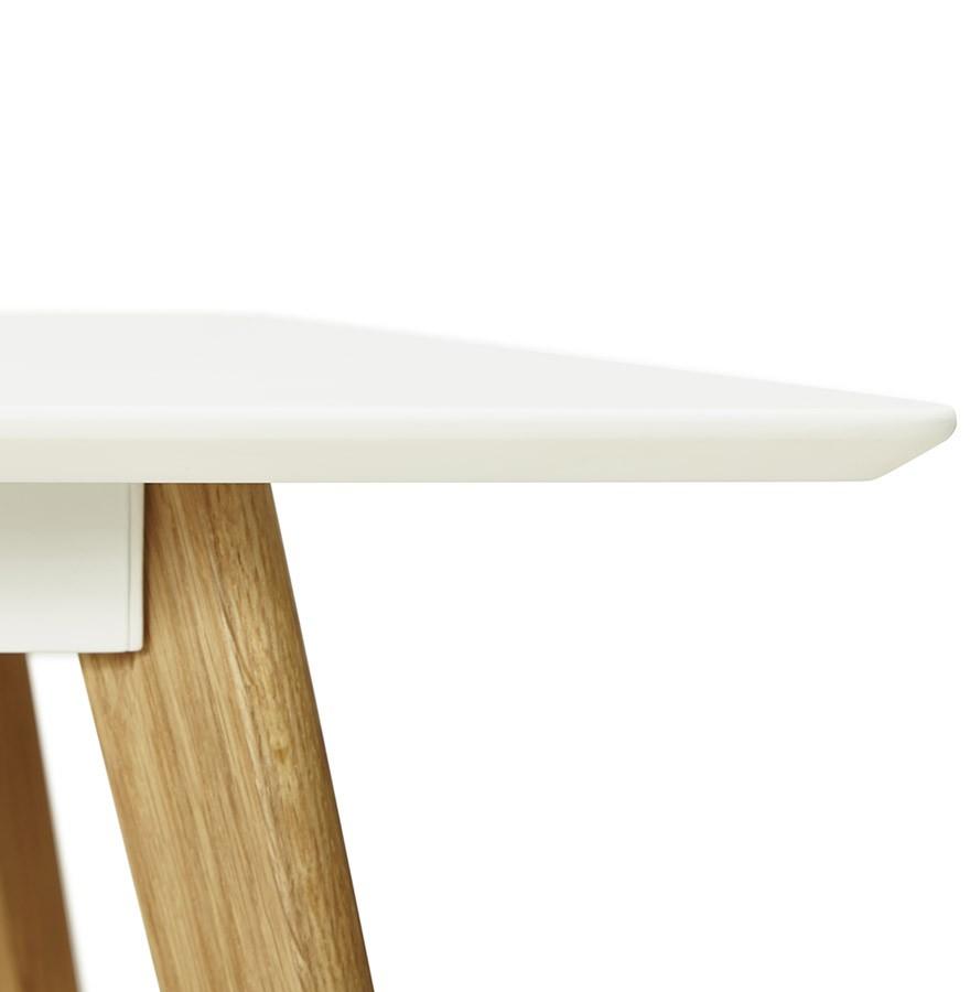 Table De Cuisine Rectangulaire Bureau Droit Candy Blanc 160x90 Cm