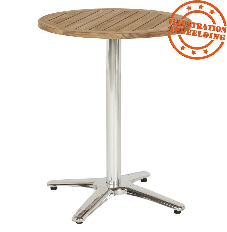 pied de table chiko 75 en m tal chrom pour int rieur et ext rieur. Black Bedroom Furniture Sets. Home Design Ideas