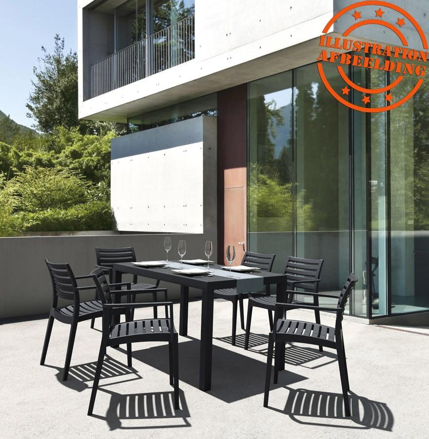 Table de jardin ENOTECA design blanche - 140x80 cm