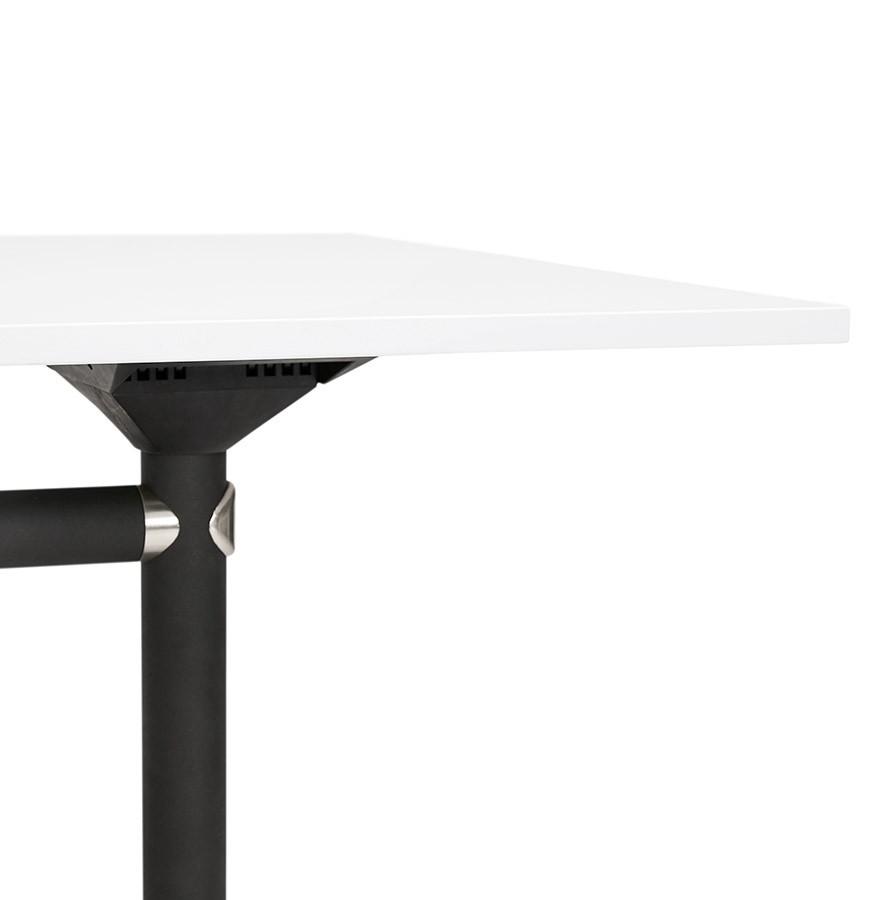 Bureau pliable FLEXO blanc sur roulettes - Bureau droit design