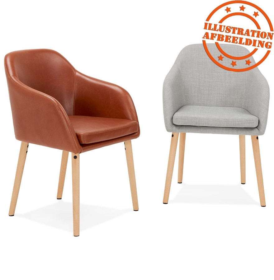 chaise scandinave avec accoudoirs florida en tissu gris. Black Bedroom Furniture Sets. Home Design Ideas