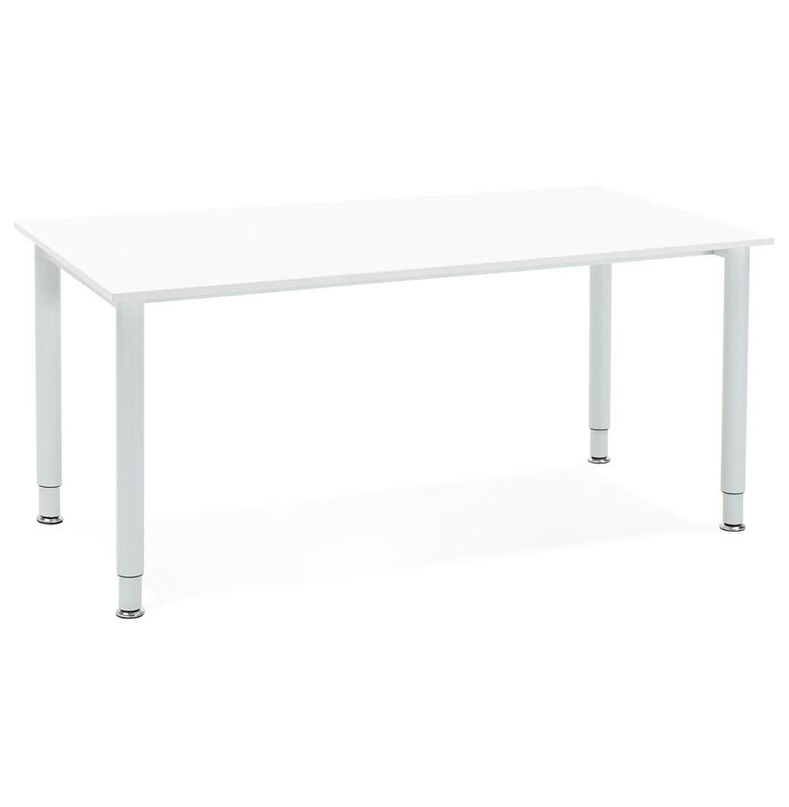 Bureau design focus blanc table de r union 160x80 cm for Table de bureau design