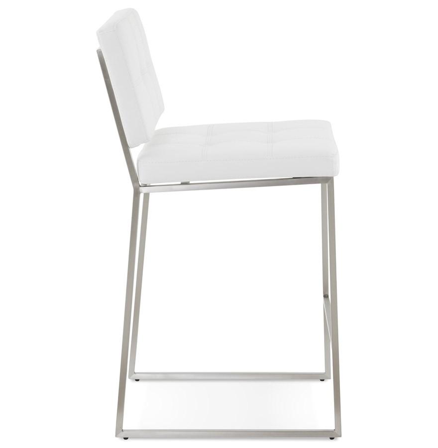 tabouret snack gaston blanc capitonn tabouret mi hauteur. Black Bedroom Furniture Sets. Home Design Ideas