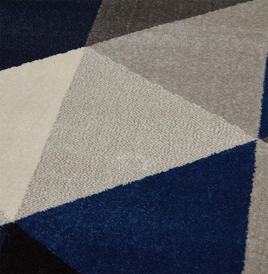 Tapis design grafik grand tapis de salon aux tons bleus for Grand tapis pour salle a manger