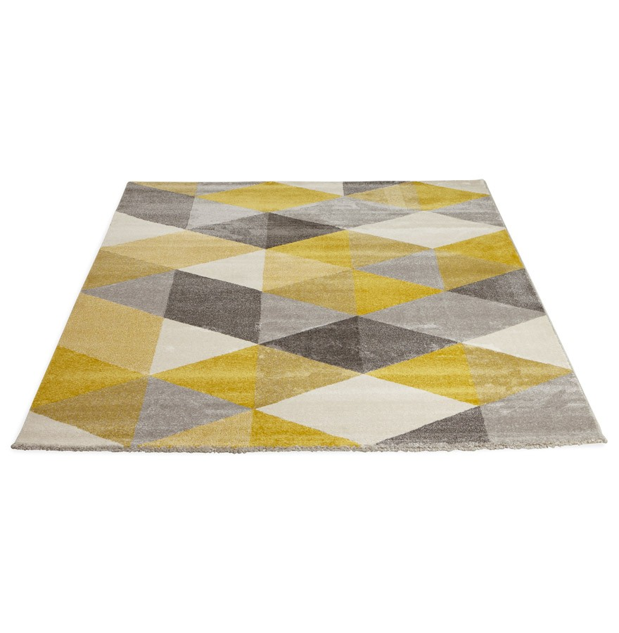 Tapis Design Grafik Grand Tapis De Salon Aux Tons Jaunes