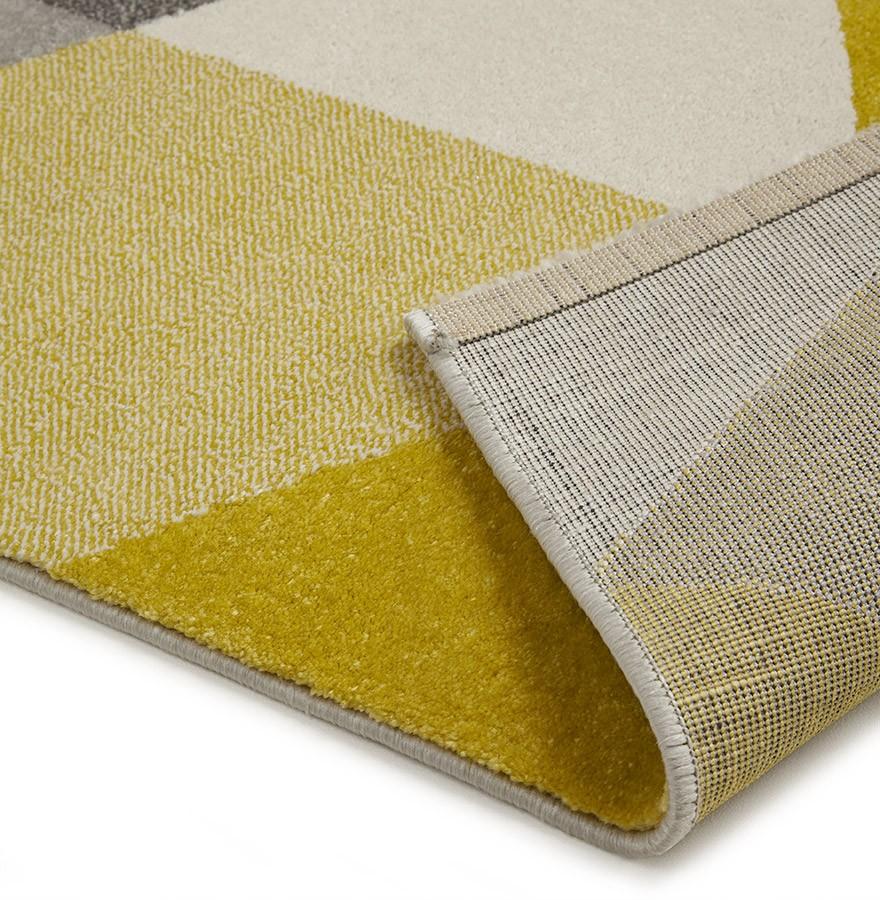 tapis design grafik grand tapis de salon aux tons jaunes. Black Bedroom Furniture Sets. Home Design Ideas