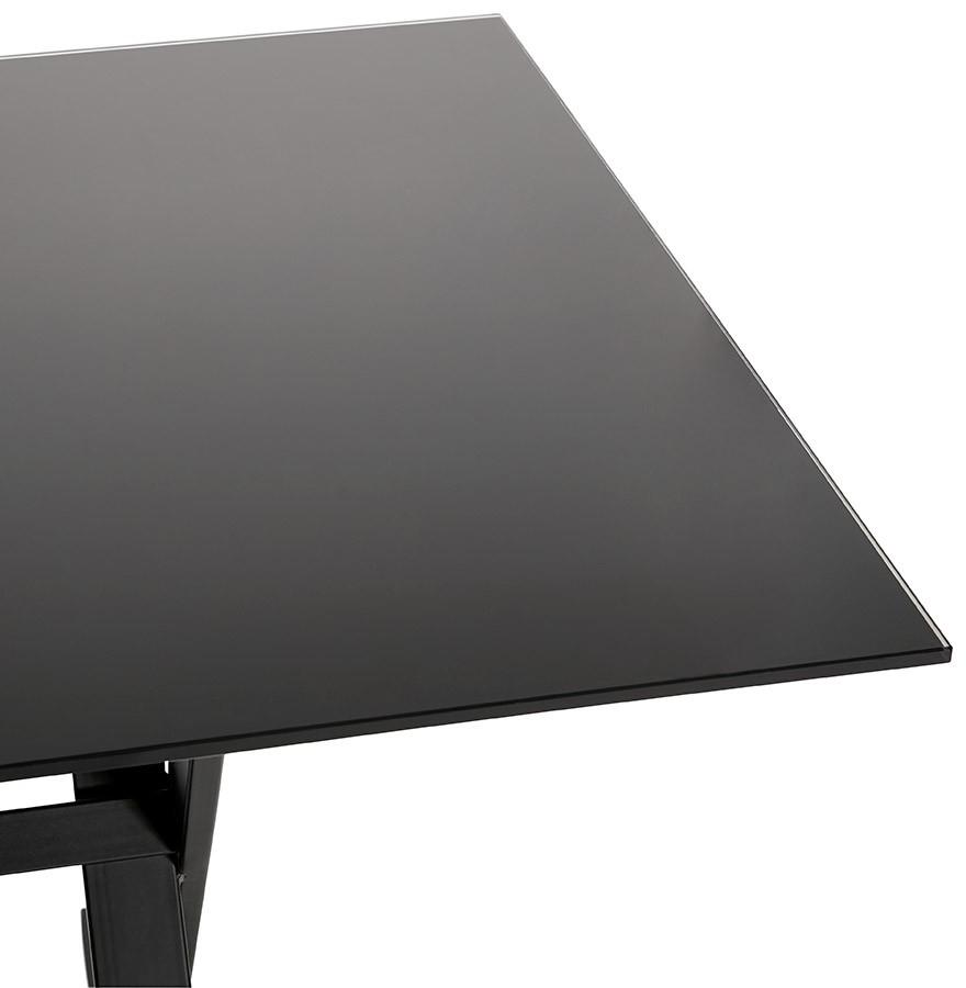 havana black glass 160 d 01 Résultat Supérieur 49 Incroyable Bureau Verre Noir Design Image 2017 Ojr7