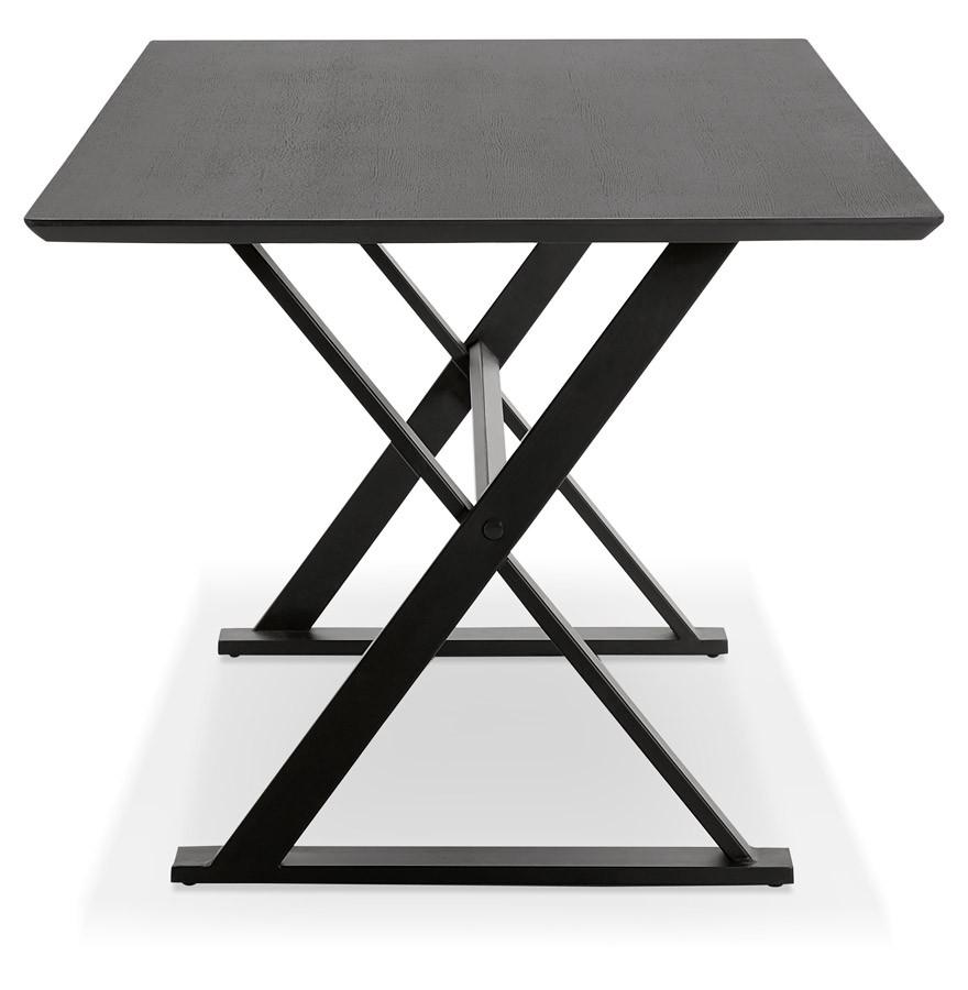 table avec pieds en croix havana noire bureau design 180x90 cm. Black Bedroom Furniture Sets. Home Design Ideas
