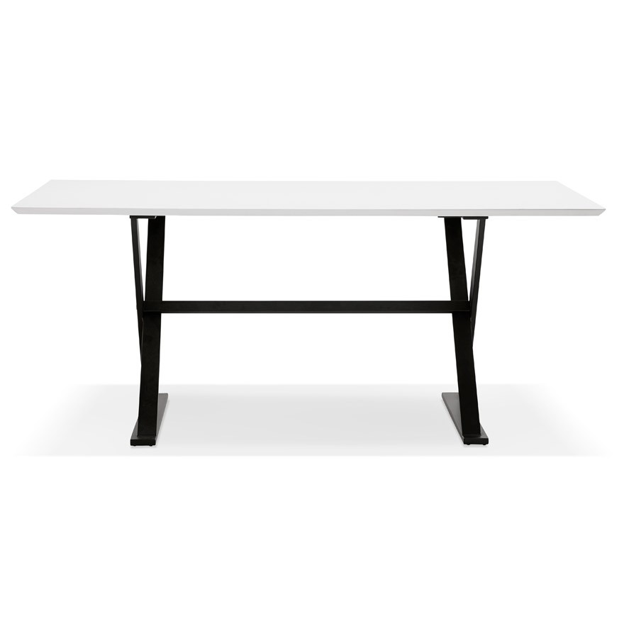 table design havana en bois blanc bureau moderne 180x90 cm. Black Bedroom Furniture Sets. Home Design Ideas