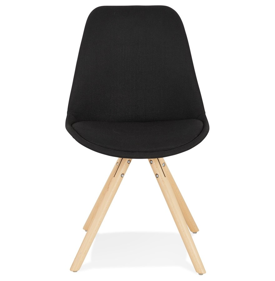 Chaise scandinave HIPHOP en tissu noir Chaise design