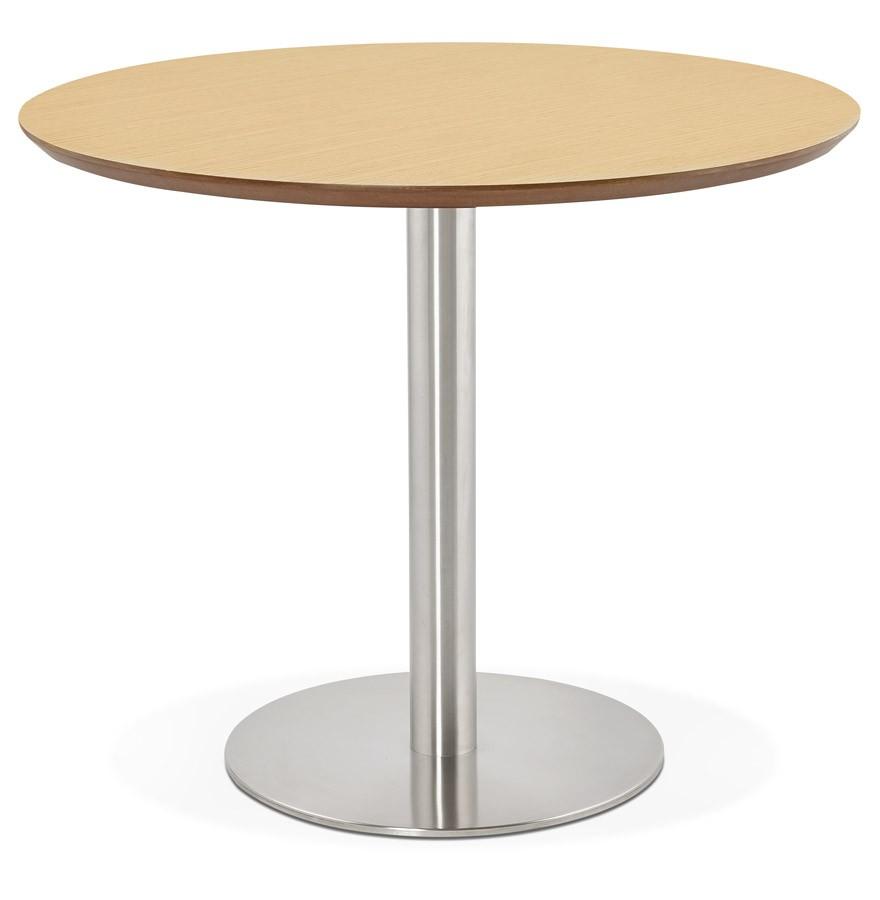 table de bureau ronde indiana en bois finition naturelle. Black Bedroom Furniture Sets. Home Design Ideas